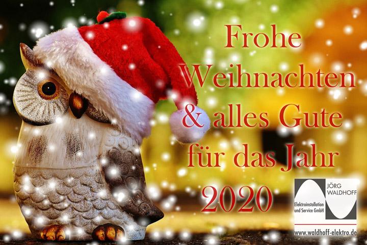 Frohe Weihnachten & ein gesundes neues Jahr 2020!